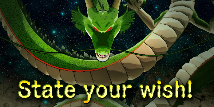 It S Our 2nd Anniversary Come Forth Shenron Grant Our Wishes Dragon Ball Legends Dbz Space